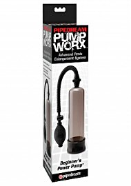 Pump Worx Beginners Power Pump With Cockring Smoke (120067)