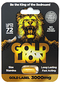 Gold Lion Erection Pill - Gold Label 3000mg Capsule (140910.853)